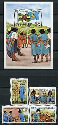DOMINICA 1985 Pfadfinder Scouts Scouting Girl Guides 900-03 + Bl.96 ** MNH