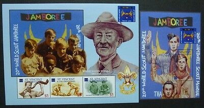 ST. VINCENT 2002 Pfadfinder Scouts Scouting 5516-18 + Bl.584 ** MNH