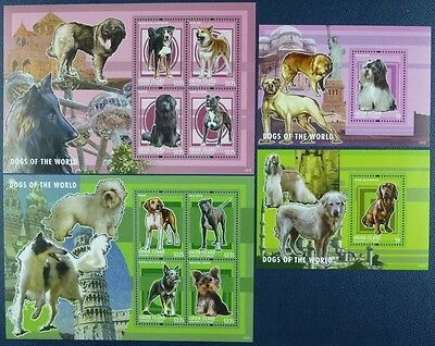 St. Vincent Union 2013 Hunde Dogs Beagle Terrier Dackel 664-71 Block 48-49 MNH