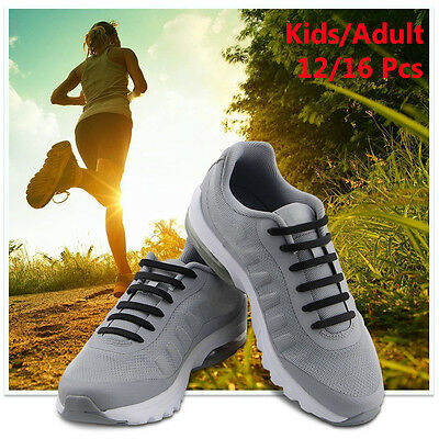 Adult Kids Lazy No Tie Shoelaces Elastic Silicone Shoe Laces For Running Sneaker