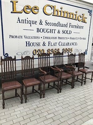 6 1900/30 Solid Oak Chairs