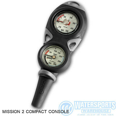 Mares Mission 2 Gauge Console For Scuba Divers With Depth And Contents Gauges