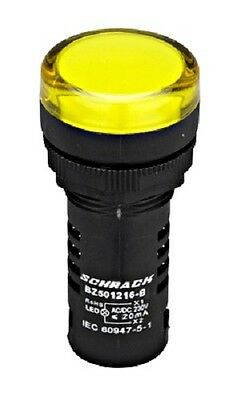 LED indicator (Pilot light) M22 AMPARO YELLOW 230V AC/DC - BZ501216-B