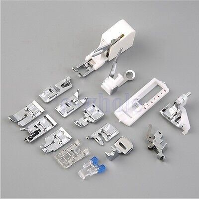 Universal 15pcs Presser Foot Set CY-015 for Low or High Shank Sewing Machines WS