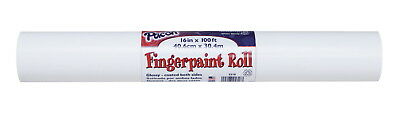 Pacon Recyclable Finger Paint Paper Roll, 50 lb, 16 in X 100 ft, White