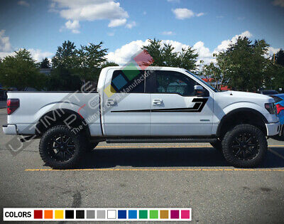 Sticker Decal Vinyl Upper Door Stripes for Ford F150 Off-Road 4x4 Tail Light Kit