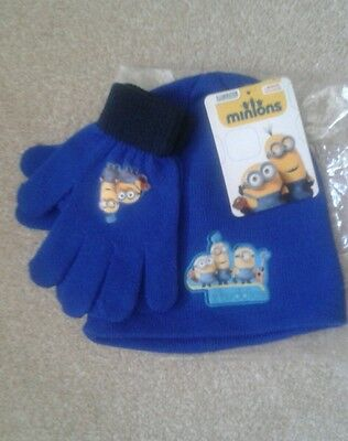 Minions Childrens Hat and Gloves set