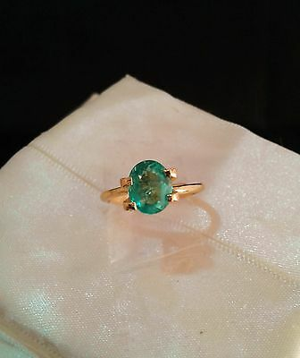 Colombian Emerald - Oval Brilliant -1.34cts - FREE International Postage
