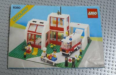 LEGO INSTRUCTIONS MANUAL BOOK ONLY 6380 Emergency Treatment Center x1PC