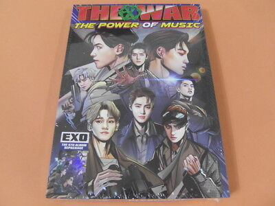 EXO The War The Power Of Music (Korean Ver.) CD w/Booklet+Photocard +Free Gift