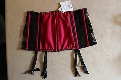 Ann Summers Waspie Size 8 New with Tags Bordeaux Suspender Belt