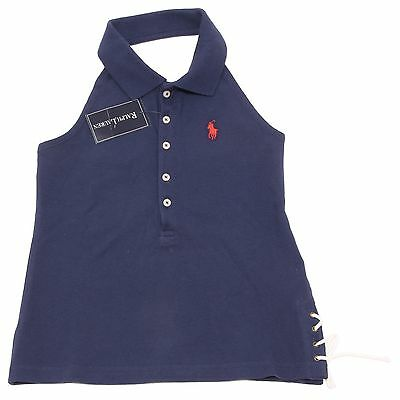 5059O polo canotta blu bimba RALPH LAUREN t-shirts sleeveless kids
