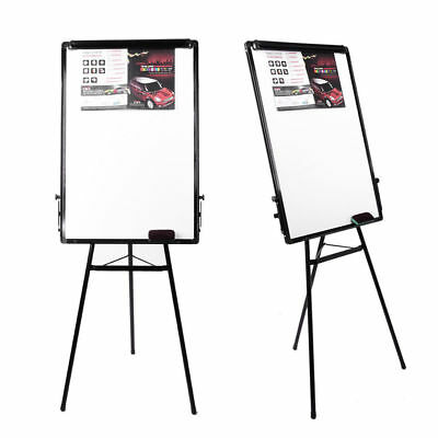 Tripod Whiteboard Magnetic Standing Flip Chart Easel Lightweight Adjustable 1x