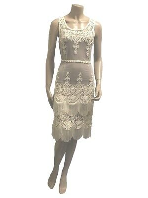 Flapper Dress great for Latin Dancing - Size 8 - A Grade Condition