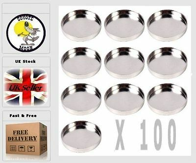 Empty Round Eyeshadow Tin Magnetic Pan DIY Refill 26mm x 100 units UK SELLER