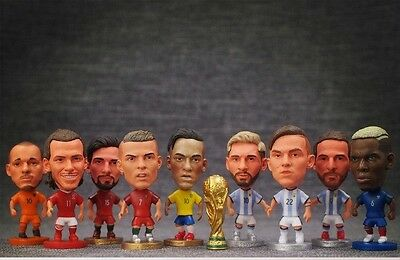 Football Soccer Star Player Ronaldo Messi Beckham Bale Sneijder Mini Figure Doll