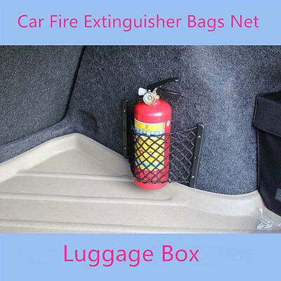 Universal General Car Trunk Fire Extinguisher Bags Net Auto Luggage Box Pocket