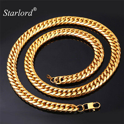 """Starlord American Style Hip Hop Cool Men Jewelry 13MM 28"""" Gold Color Stainles..."""
