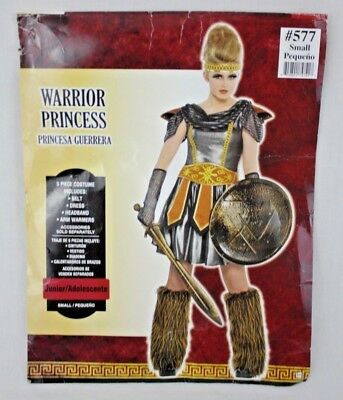 separation shoes 5b3cb 0e115 Warrior Princess Ladies Womens Halloween Fantasy Costume Size Small 3-5 NEW