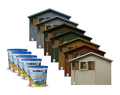 Ronseal 9L Fence Life Plus Garden Shed & Fence Paint UV Potection-All Colours 9L