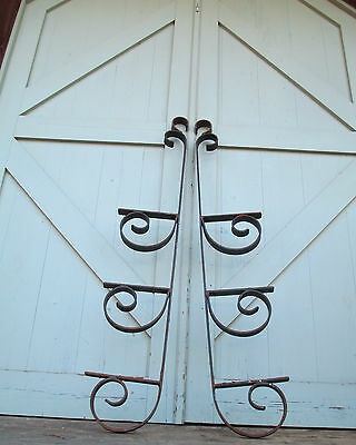 Steam Punk Iron Wall Brackets / Mid Century Modern WALL SHELF 60's/70's THE BEST