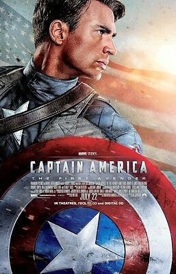 "Captain America First Avenger(11"" x 17"") Collector's Poster Print -( T1) - B2G1F"