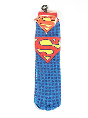 SuperMan Slipper Socks DC Comics Boys Kids One Size New