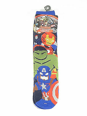 Marvel Slipper Socks Avengers Age of Ultron Boys Kids One Size New