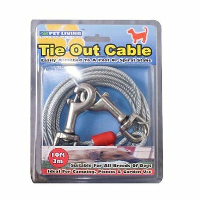 Tie Out Cable 10Ft Very Strong All Dog Chew Proof Cable