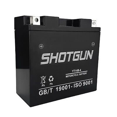 YT14B-BS SLA AGM Battery for 2011 Hyosung ST7 Motorcycle Model - 1 Year Warranty