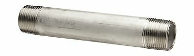 """Stainless Steel 316/316L Pipe Fitting Nipple Schedule 40 Welded 3/8"""" X 6"""" NPT"""