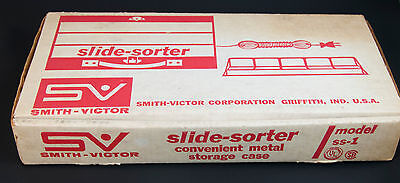 Vintage Smith-Victor Lighted Slide Sorter Viewing Tray Metal Box Model SS1