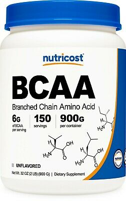 Nutricost BCAA Powder (Unflavored) 150 Servings  - Branched Chain Amino Acids