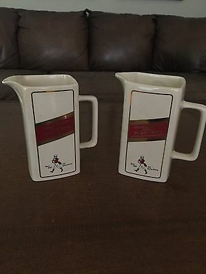 Johnnie Walker Red Large Water Pitchers set of 2 for $45.00