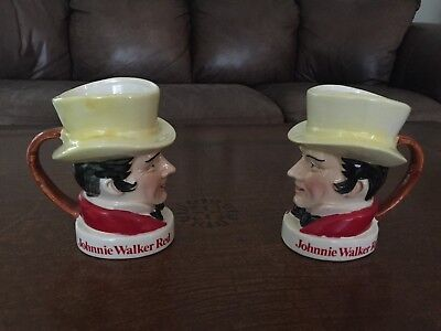 Johnnie Walker Red Vintage Toby Mugs Set of 2