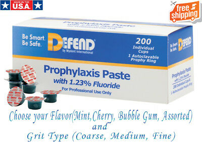 Prophy Paste with Fluoride, 200 Individual Cups -3 Available Flavors by DEFEND