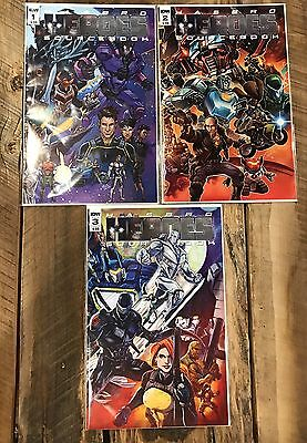 Hasbro Heroes Sourcebook #1 2 3 1St Print Set Nm Idw Comic Book 2017