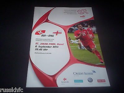2014 Switzerland V England Euro 2016 Qualifier