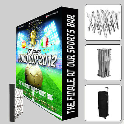 10 Ft Portable Custom Fabric Trade Show Display Booth Exhibition Pop Up Stand