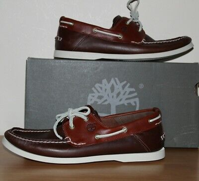 Timberland Brown Classic Heritage 2- eye Boat/Deck Shoes A13HP