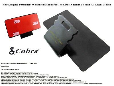 1/ New Permanent Windshield Mount For The COBRA Radar Detector All Recent Models