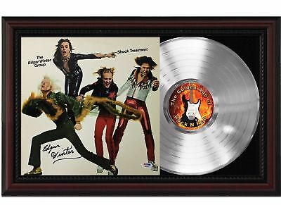 Edgar Winter Group - Platinum LP Record With Reprinted Autographs In Wood Frame
