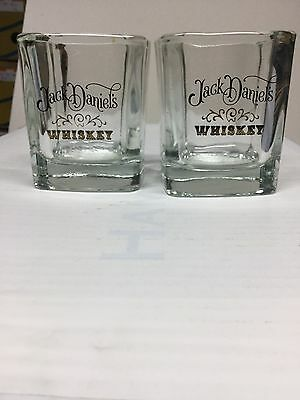 Pair of Jack Daniels Whiskey Low Ball On The Rocks Glasses