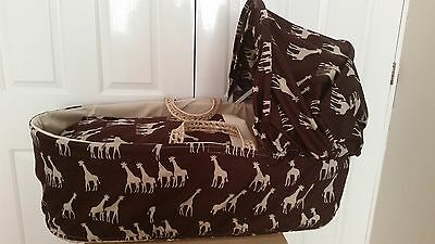 Giraffe Safari Moses Basket Cover Set