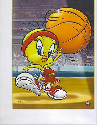 Tweety Bird Collectible Looney Tunes Character Art Basketball Sport Pictures