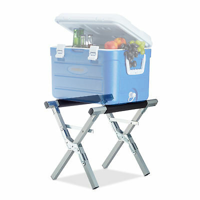 Ice Box Cooler Stand, Aluminum, Foldable Cool Box Holder, 80 kg, Metal Surface