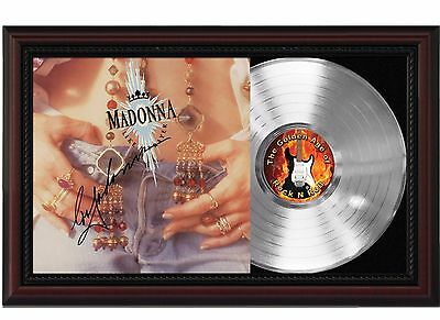Madonna Like A Prayer Platinum LP Record With Reprinted Autograph In Wood Frame