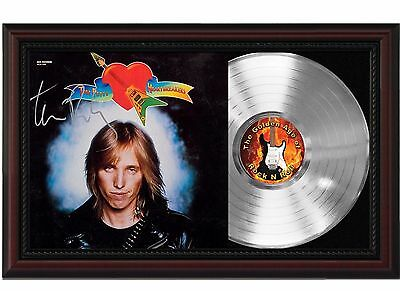 Tom Petty - Platinum LP Record With Reprinted Autograph In Cherry Wood Frame