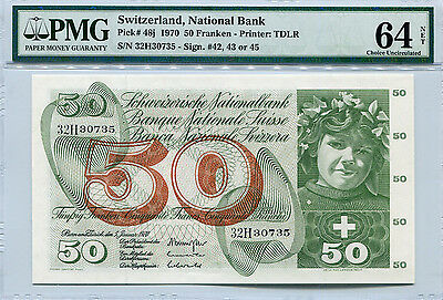 SWITZERLAND  48j  --  CU  --  1970  --  PMG 64NET