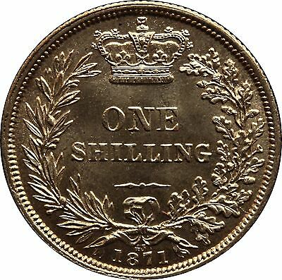 1871 Shilling English Silver Coin From Victoria (1837-1901)